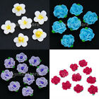 10pcs 16mm Fimo Polymer Clay Flower Handmade Beads for DIY Jewelry Crafts Making