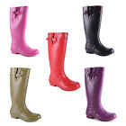 New Ladies Waterproof Wellies Wellington Boots Festival Rain Snow UK 3 4 5 6 7 8