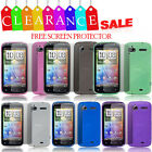 FOR HTC SENSATION MATTE SILICONE RUBBER GEL PHONE CASE COVER + SCREEN PROTECTOR