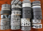 Washi Tape black white 10 m  Roll Decorative Sticky Paper Masking Tape Adhesive