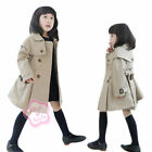 Girls Autumn Double-Breasted Trench Coat Kids Wind Jacket Outwear SZ 3 4 5 6 7 8