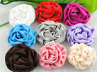 18/90PC Polyester Rose Flower appliques/Craft/sewing 9colors-U pick