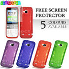 Hex Silicone Soft TPU Gel Phone Case Cover For Nokia C5-00 + Screen Protector