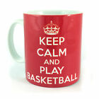 KEEP CALM AND CARRY ON PLAY BASKETBALL GIFT MUG CUP PRESENT PLAYER GAME MATCH