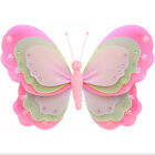 Hanging Butterfly Dk Pink Green Pink Baby Nursery Fake Nylon Butterflies Decor
