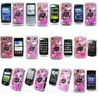 DIAMOND BLING FLOWER RHINESTONE PINK PHONE CASE COVER BARBIE STRAWBERRY + SCREEN