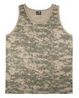 Rothco US Military Army Mens ACU Digital Camo Camouflage Muscle Tank Top T-Shirt
