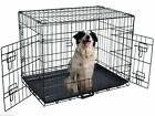 """New 30"""" /36"""" /42"""" Wire Folding Pet Crate Dog Cat Cage Suitcase Exercise Playpen"""
