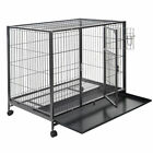 24 /30 /36 /42 /48'' Wire Folding Pet Crate Dog Cat Cage Suitcase Exercise Playpen
