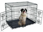 24/30/36/42/48'' Wire Folding Pet Crate Dog Cat Cage Suitcase Exercise Playpen