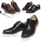 New Mooda Wing Tip Lace Up Mens Leather Oxford Casual Dress Shoes