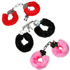 Red Black Pink Furry Metal Handcuffs Hen Do Stag Party Sexy Night Fancy Dress