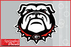 Georgia Bulldogs BULLDOG w/ SPIKE COLLAR Vinyl Decal UGA Car Sticker PICK A SIZE