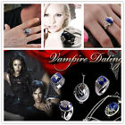 Vampire Diaries Damon Caroline Elena Ring Lapis Silver Plated Jewel