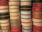 Vintage Large Fabric Ribbon Reel 3m Metres Roll Retro Vintage Style East India