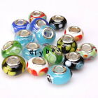 Colorful Various Style Round Charms Lampwork Beads Fit European Bracelets New