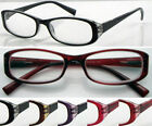 G(R356C)3 Pairs Plastic Reading Glasses/5Colours/Spring Hinge/Aspheric Lenses