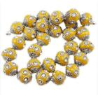 10/50pcs Hotsale Colorful Clear Rhinestone Charms Faux Indonesia Spacer Beads