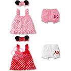 Girls Kids Baby Toddlers Polka Dots Top+Pants+Headband 3Pcs Clothes Outfit 0 1 2