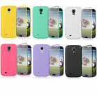 For Samsung Galaxy S4 S IV TPU Wrap Up Phone Case with Built In Screen Protector