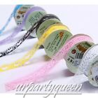 1pc 25mm 1 Meters Bud Lace Stationary Sticker Scrapbooking Transparent Xmas Tape