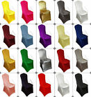 100 SPANDEX LYCRA BANQUET CHAIR COVER WEDDING WHITE BLACK RED PURPLE PINK IVORY
