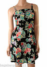 NEW BLACK PINK GREEN YELLOW PURPLE WHITE SUMMER FLORAL STRAPPY SUN DRESS 50s VTG