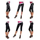 Leggins LACK Look L/XL  XXL Schwarz 3/4 Capri Leggings