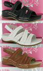 WOMENS GLUV VICO LEATHER VELCRO SLING BACK PADDED COMFORT QUALITY SANDALS UK 4-8