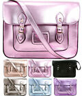 Ladies Designer Vintage Crossbody School Bag iPad Metallic Women Satchel Handbag