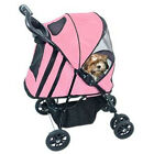 PetGear Dog Pet HAPPY TRAILS  PET STROLLER Folds Easily PINK ICE Holds to 30 lbs