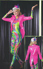 Allegria PINK VINYL COAT Dance Costume Mix n Match CS,M,L,XL,AS,M,L,XL Cirque