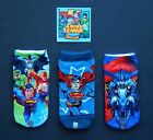 BATMAN SUPERMAN JUSTICE LEAGUE 3, 4 or 5-Pack Low Cut Ankle Socks Kids Ages 4-10