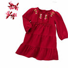 Gymboree Cozy Baby Girl Tier Ruffle Embroidered Dress  6 12 Mos  NWT