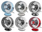 "Fantasia 10"" Retro Desk Table Fan 2 Speeds Adjustable Tilt Head Various Colours"