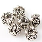 50/250pcs 112579 New Fashion Antique Silver Rose Flower Charms Alloy Loose Beads
