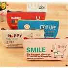 1Pc Lovely Canvas Cosmetic Receive Bag Pen Pencil Bag Pink Beige Blue Red Colors