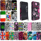 For Apple IPhone 4 4G 4GS New Stylish Printed Hard Shell Back Case Cover+Stylus