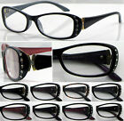 R424 Reading Glasses Plastic Frame/12pcs Diamante/Metal Detail/Ladies+50+100+150