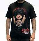 Sullen Pin Up Punk Street Gothic Devil Rockabilly Tattoo Mens Tee LOVE LOST