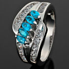 Marquise Cut Wedding Gift Fashion Jewelry 7 Colors Engagement Ring Size 6/7/8