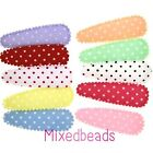 *U PICK* 25-500 Satin Polka Dot Cover 2 1/8 Hair Clip applique 55mm fabric craft