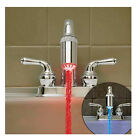 1-50PCS Good Water Glow LED Faucet Light Temperature Sensor Sink Tap New