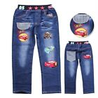 Cars Lightning McQueen Toddlers Kids Boys Girls Funny Jeans Trousers  Aged 3-9Y