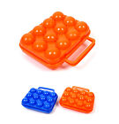 New Portable 12slot Egg Plastic Hard Case Egg Hard Bag Storage Container Camping