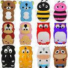 3D animaux Silicon Gel Housse Coque Etui Case POUR Samsung Galaxy S4 i9500 i9505