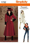 Simplicity Sewing Pattern 1732 - Misses' Costume Coat - Choice of Sizes