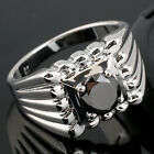 Men Real 925 Sterling Silver Ring Birthday Gift Multi Size Nice Carve Design