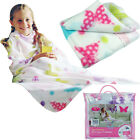 GIRLS SNUGGLE WRAP SOFT FLEECE BLANKET CUDDLE SNUGGIE SNUG COSY BUTTERFLY HEARTS