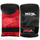 BOXING BAG GLOVES KICKBOXING TRAINING MMA PUNCH MITTS LEATHER BLACK/RED